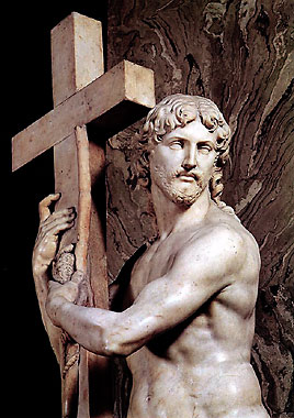 Christ Carrying the Cross (detail) by Michelangelo
