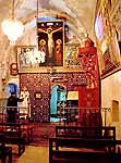 Interior of the Coptic Church of St. Anthony.
