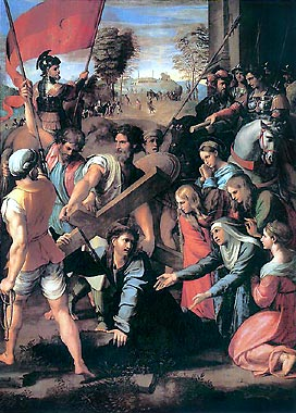 Christ Falls on the Way to Calvary painting by Raphael