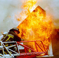 Sagamore Street fire, photo by Jim Mahoney/Boston Herald.