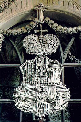 The Shwartzenberg Family Coat of Arms - The Sedlec Ossuary.