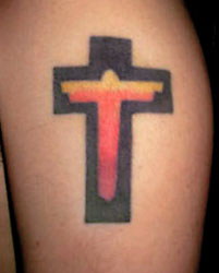 Jason Gennaro's Cross Tattoo