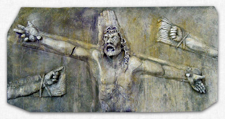 The Crucifixion - Relief by Brad Coriell.